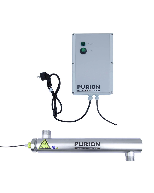 purion 2001 230v 48w poolreiniger algen im wasser uv c desinfektion ebay. Black Bedroom Furniture Sets. Home Design Ideas